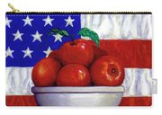Flag And Apples Carry-all Pouch