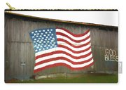 Flag And Barn - Painting Carry-all Pouch