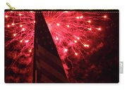 Flag And Fireworks Carry-all Pouch