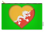 Flag Of Bhutan Heart Carry-all Pouch
