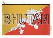 Flag Of Bhutan Word Carry-all Pouch