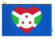 Flag Of Burundi Heart Carry-all Pouch