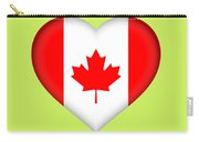 Flag Of Canada Heart Carry-all Pouch
