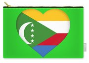 Flag Of  Comoros Heart Carry-all Pouch