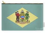 Flag Of Delaware Carry-all Pouch