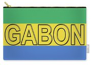 Flag Of Gabon Word. Carry-all Pouch