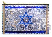 Flag Of Israel. Bead Embroidery With Crystals Carry-all Pouch