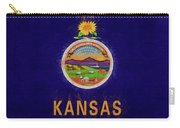 Flag Of Kansas Grunge Carry-all Pouch