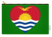 Flag Of Kiribati Heart Carry-all Pouch