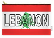 Flag Of Lebanon Word Carry-all Pouch