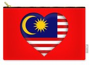 Flag Of  Malaysia Heart Carry-all Pouch