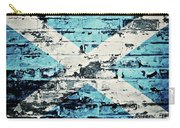 flag of Scotland painted on old brick wall Carry-all Pouch
