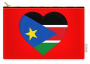 Flag Of  South Sudan Heart Carry-all Pouch