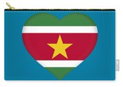 Flag Of Suriname Heart  Carry-all Pouch