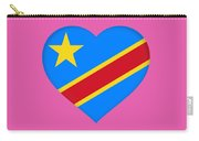 Flag Of The Congo Heart Carry-all Pouch