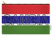 Flag Of The Gambia Word. Carry-all Pouch
