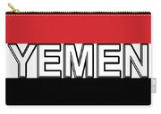 Flag Of The Yemen Word Carry-all Pouch