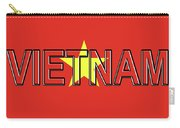 Flag Of Vietnam Word Carry-all Pouch