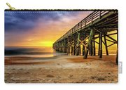 Flagler Beach Pier At Sunrise In Hdr Carry-all Pouch