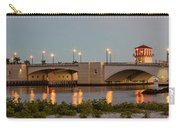 Flagler Bridge In Lights Panorama Carry-all Pouch