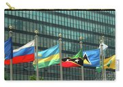 Flags Of Various Nations Outside The United Nations Building. Carry-all Pouch