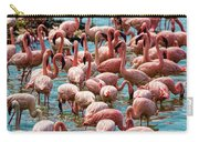Flamboyance Of Flamingos Carry-all Pouch