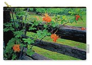 Flame Azalea And Fence Carry-all Pouch