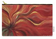 Flaming Flower Carry-all Pouch by Nadine Rippelmeyer