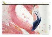 Flamingo - Facing Right Carry-all Pouch