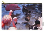 Flamingo Family  Carry-all Pouch