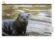 Flamingo Gardens - Curious Otter Carry-all Pouch