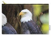Flamingo Gardens - Focused Bald Eagle Carry-all Pouch