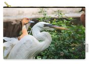 Flamingo Gardens - Great Egret Profile Carry-all Pouch