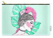 Flamingo Girl Carry-all Pouch