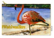 Flamingo In Florida Shirt Carry-all Pouch