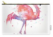 Flamingo Watercolor Facing Right Carry-all Pouch