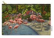 Flamingos Vintage Postcard Carry-all Pouch