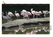 Flamingos With Reflection Carry-all Pouch