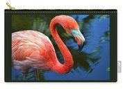 Flamingo Wading In Pond Carry-all Pouch