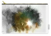 Flared Textured Palm Carry-all Pouch