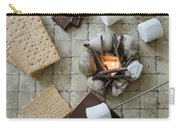 Flat Lay Camp Fire S'mores Deconstructed Carry-all Pouch