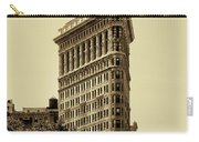 Flatiron Building In Sepia Carry-all Pouch