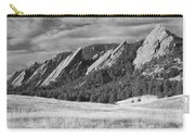 Flatiron Morning Light Boulder Colorado Bw Carry-all Pouch