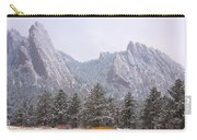 Flatirons From The South Boulder Colorado Carry-all Pouch