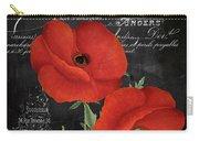 Fleur Du Jour Poppy Carry-all Pouch