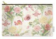 Fleurs De Pivoine - Watercolor In A French Vintage Wallpaper Style Carry-all Pouch