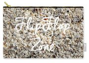 Flip Flop Zone Seashell Background Carry-all Pouch