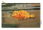 Floating Beauty - Hot Orange Chrysanthemum Blossom In A Silky Fountain Carry-all Pouch