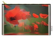 Floating Wild Red Poppies Carry-all Pouch