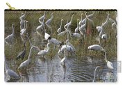 Flock Of Different Types Of Wading Birds Carry-all Pouch